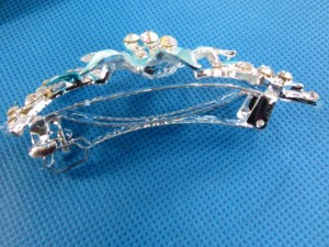 beautiful rhinestone crystal hair barrette hair clips  size around 1.5 inches wide, 4 inches long