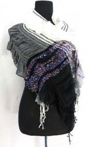 ruffled fashion scarves