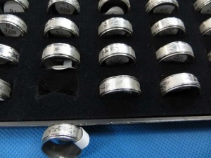 rings stainless steel spinner lot with assorted designs randomly picked size between 6 to 11