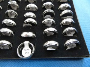 stainless steel spinning ring, one design randomly picked size between 6 to 11