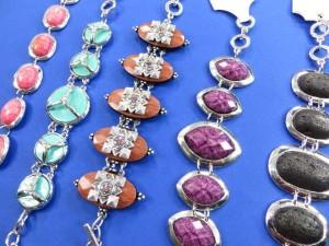 assorted gemstone toggle bracelets