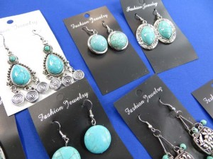 assorted designs turquoise earrings size around 1.5 ro 2.5 inches in length