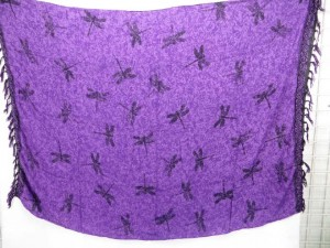 purple dragonfly summer wrap sarong