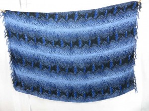 blue animal skin sarong