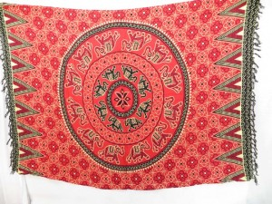 red pareo cruise wrap in lucky elephant design