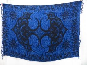 large tattoo design blue sarong