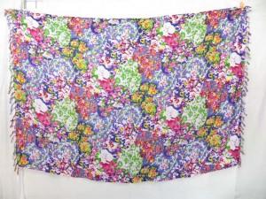 floral design beach sarong