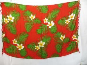 Caribbean tropical summer wear red sarong