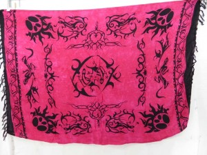 fuchsia kanga sarong tribal tattoo designs