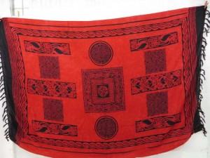 celtic knots red sarong wrap
