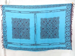 blue celtic sarongs wall hangings hippie shawls