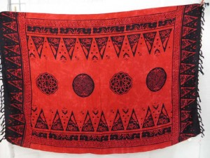 Red Celtic Knot Sarongs Altar Clothes