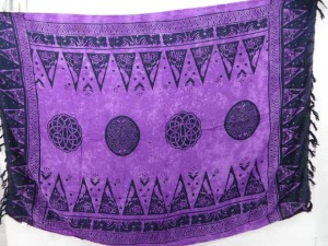 purple celtic knot sarong wrap altar cloth