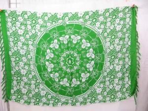 green circle floral beachwear sarongs