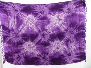 purple star burst tie dye sarong heppy apparel