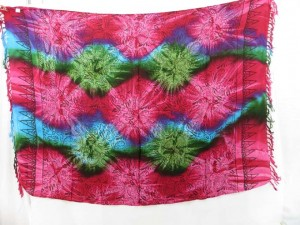 mixed color star burst diamond design tie dye sarongs