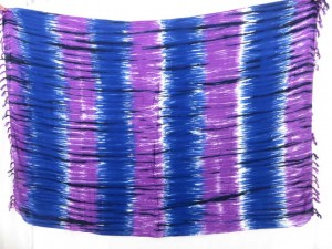 blue purple stripes sarong