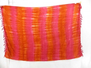 mixed hot summer color tie dye sarong