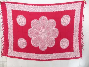giant daisy flower hot pink sarong