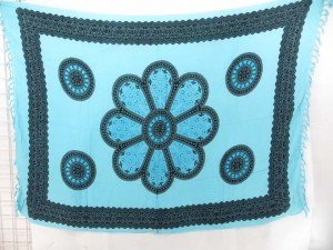 giant daisy flower blue sarong