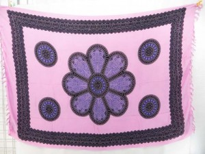 giant daisy flower light pink sarong
