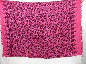 floral print pink sarong