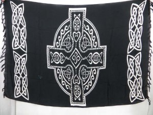 black celtic sarong altar cloth
