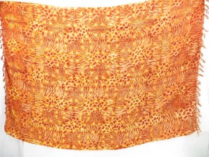 sarong beach wraps orange brown animal skin print