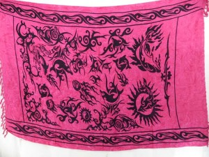 fuchsia sarong wall hanging altar cloth wicca pagan bedspread