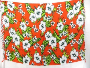 hibiscus collection sarong in orange