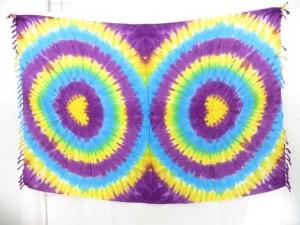 rainblow tie dye circles sarongs