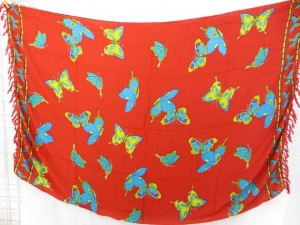 red butterfly sarong