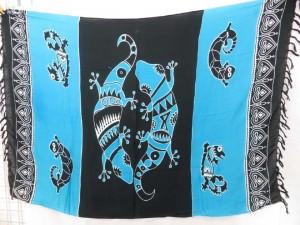 blue gecko bikini swimwear cover up scarf