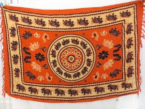 swimwear scarf orange elephants sarongs