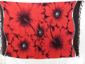 giant hibiscus flower red dress pareos beachwear