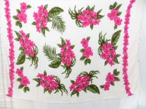 white and colorful flowers sarongs