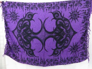 purple giant tattoo sarong