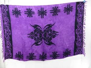 pareo dress sarong purple tattoo tribal design
