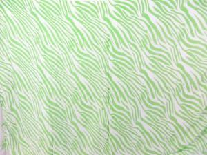 green zebra skin print white sarong