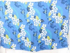 blue hawaiian leis sarong dress pareos