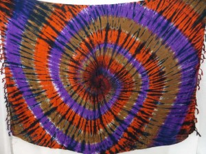 mixed color swirl tie dye sarongs