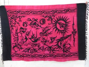 mystic creations tribal fuchsia sarong