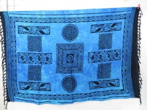 blue Irish celtic knotwork sarong