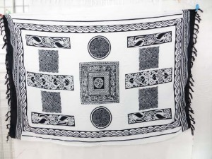 black and white celtic knots sarong