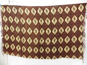 brown color Indonesian traditional sarong with classical designs