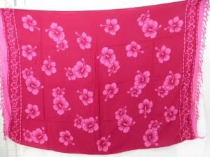 pink hibiscus fashion sarong