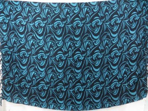 abstract design blue black sarong