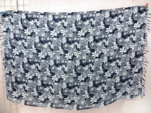 black and grey cute floral sarong