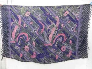 purple Balinese classic design sarong