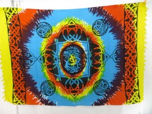 rainbow tie dye celtic knotwork sarong alta clothes